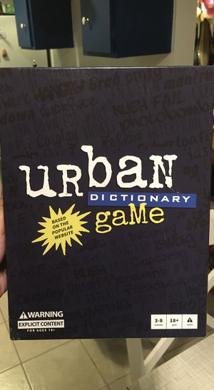 Board game/ card game- Urban Dictionary the Game for Sale in Los Angeles, CA