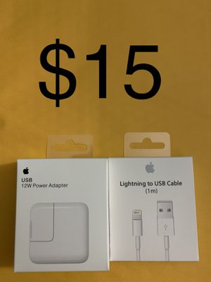 Apple iPad lightning cable and charger for Sale in Bonita, CA