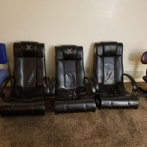 ALL 3 LEATHER GAMING CHAIRS FOR ONLY $30 (TODAY ONLY) for Sale in Fresno, CA