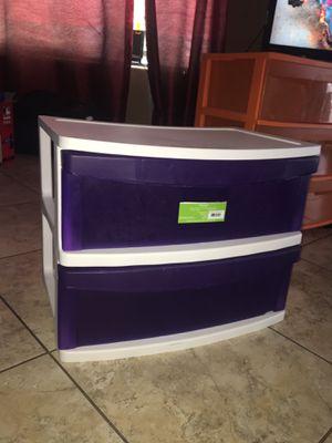 2-drawer plastic storage for Sale in Phoenix, AZ
