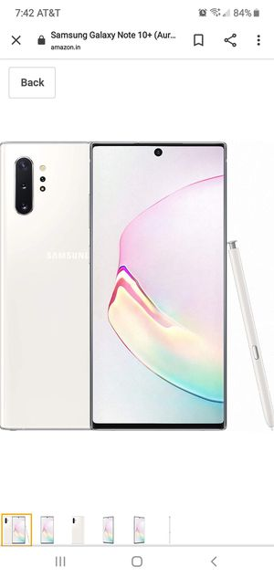 At&t note 10+ white for Sale in E RNCHO DMNGZ, CA