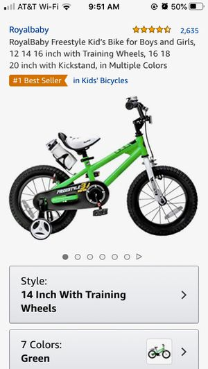 $50.00 RoyalBaby Freestyle Kid's Bike boy/girl for Sale in Pompano Beach, FL