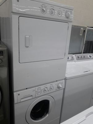 Front load washer and dryer set stackable perfect shape with warranty for Sale in Fort Washington, MD