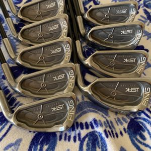 Ping IST•K Gold Dot Golf Irons set 4-sw 10 clubs set with Ping 350 Series Regular Flex Shaft Excellent Condition for Sale in Weston, FL
