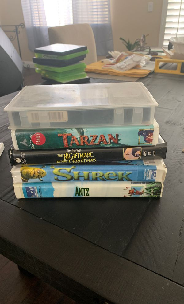 5 Pack VHS movies