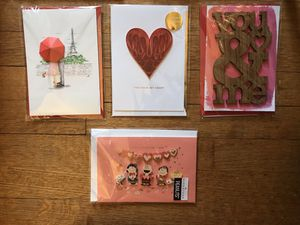 Lot of four 3D handmade Valentines cards (G) for Sale in Washington, DC