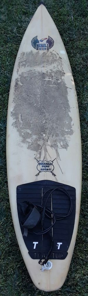 "VINTAGE Michaels's SURF & Sport SURBOARD 7'8"" Fun Board for Sale in South Pasadena, CA"