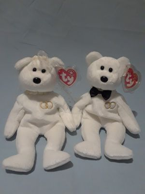 Bride and Groom Beanie Babies $15.00 for set for Sale in Manteca, CA