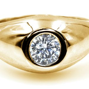 3232YG MENS DIAMOND SOLITAIRE WEDDING RING BAND 0.75CT 14K GOLD for Sale in San Diego, CA