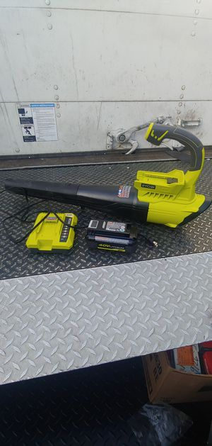 New Ryobi 40v Blower Battery/Charger Included!! for Sale in Bloomington, CA