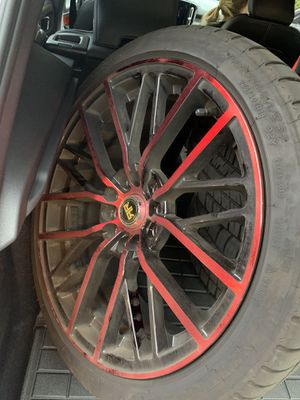 Michelin Pilot Sport 225/40ZR18 92y Extra Load Tires and Black and Red Sport Rims BMW Sport for Sale in Vernon, CT
