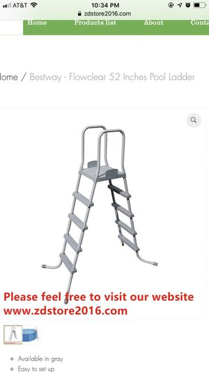 Bestway - Flowclear 52 Inches Pool Ladder for Sale in Houston, TX