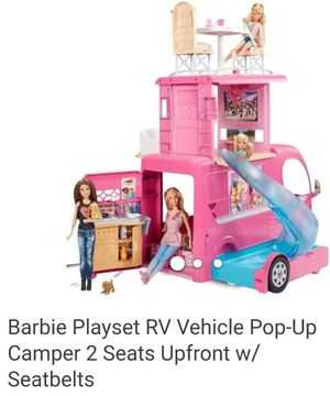 Barbie Playset RV Vehicle Pop Up Camper for Sale in Austin, TX