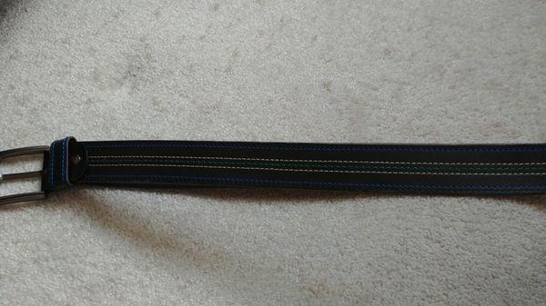 Men's 2 Leather black belts adjustable