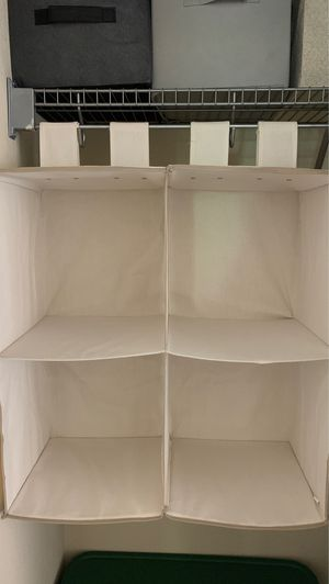 Closet organizer with rack for Sale in Las Vegas, NV