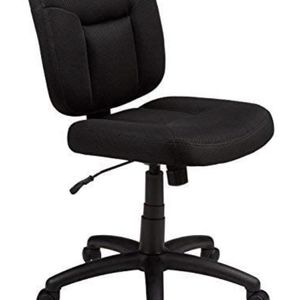 AmazonBasics Upholstered, Low-Back, Adjustable, Swivel Office Desk Chair, Black for Sale in Franklin Park, IL