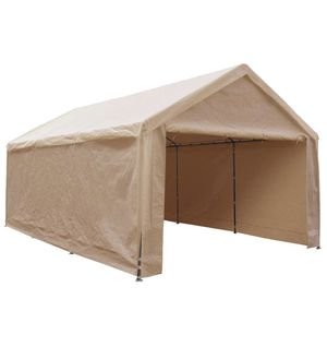 Extra Large Heavy Duty Carport 132lb with Removable Sidewalls Portable Garage Car Canopy Boat Shelter Tent for Party, Wedding, Garden Storage Shed 8 for Sale in Rancho Cucamonga, CA