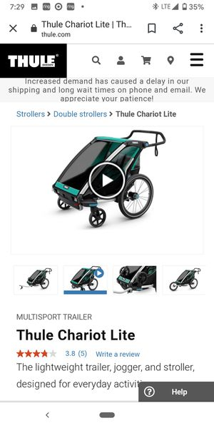 Thule chariot lite 2 bike trailer child stroller for Sale in Oakland, CA