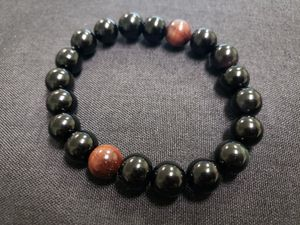 ***NATURAL STONE- Grade A Red Tiger Eye Obsidian Bracelet (Remove/block negative energy, calm emotions, Help decision & $$ Making, promotion) for Sale in Rancho Cucamonga, CA