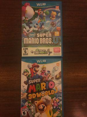 Super Mario 3D World and Super Mario Bros u Nintendo Wii for Sale in Mesa, AZ