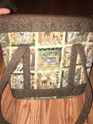 Animal inspired soft polyester and cotton purse for Sale for sale  Colton, CA