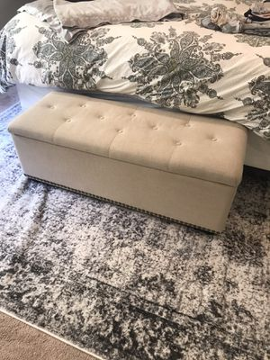 Upholstered storage bench for Sale in Lynnwood, WA