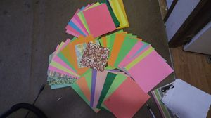 Misc arts and crafts over 55 colored pages stencils paints gems paints folders for Sale in Lubbock, TX