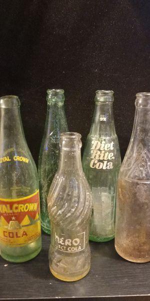 5 Vintage Collection of RC Cola bottles for Sale in Laurens, SC