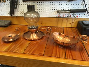 Gregorian copper handmade candleholders vintage for Sale in University Place, WA