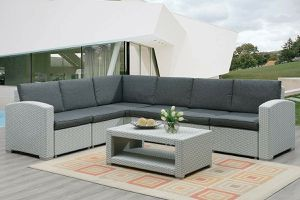 7 PIECE OUTDOOR PATIO SECTIONAL FURNITURE SET for Sale in San Diego, CA