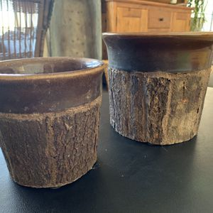 """Rustic Flower Pots H 6 1/2"""" X W 7"""" And H 5 1/2"""" X 5 1/2"""" No Chips Or Crackd for Sale in Henderson, NV"""