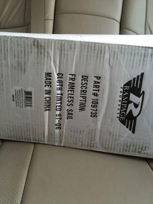 Jeep Wrangler Frameless Sailcloth + Windshield Channel Header - Black- New for Sale in Atlanta, GA