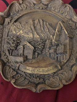 Vintage German Wood Plate for Sale in Crewe,  VA