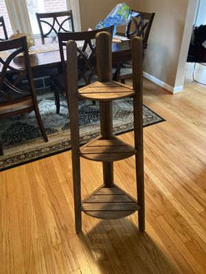 Wood stool furniture shelf for Sale in Dearborn Heights, MI
