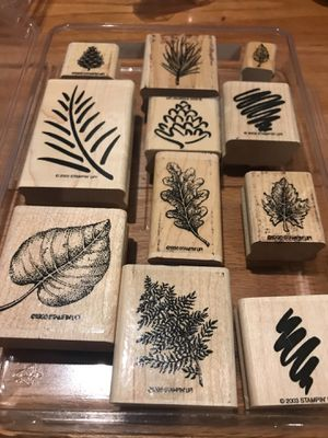 Stampin' Up! Leaf and Nature rubber stamp set for Sale in Washington, DC