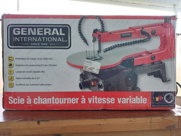 General International variable speed scroll saw new in box