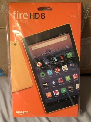 Amazon Kindle Fire HD 8 - Canary Yellow 16GB Tablet for Sale in Woodbridge Township, NJ