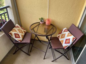 Outdoor coffee table and chair for Sale in Santa Clara, CA