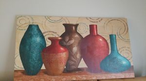 Large canvas wall art vases for Sale in Etna, OH