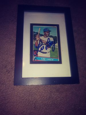 Baseball card signed for Sale in Thousand Palms, CA