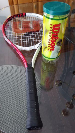Tennis Racket and Balls for Sale in Woodbridge, VA