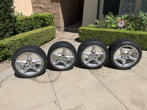 """PORSCHE OEM FACTORY 18"""" 911/944/928/997 AND OTHER MODELS CLASSIC WHEEL/TIRE/ CENTER CAPS. INCLUDING WINTER TIRES AND COVER for Sale in Irvine, CA"""