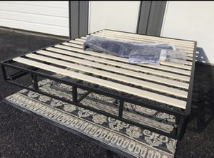 New FULL size smart box spring with wood slats for Sale in Upper Arlington, OH