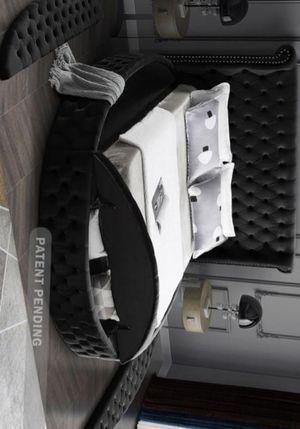SPECIAL] Luxus Velvet Black King Storage Platform Bed for Sale in Calverton, MD