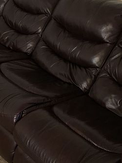 Leather Sofa,dark Brown Color for Sale in Vancouver,  WA