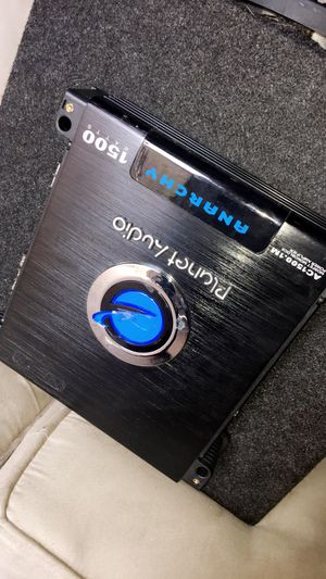 Planet audio AMP 1500 watts with Speaker for Sale in Oklahoma City, OK