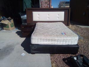 Headboard , base , matt ,,, for Sale in YSLETA SUR, TX
