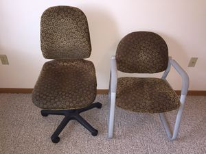 2 Matching Upholstery Office Chairs for Sale in Appleton, WI