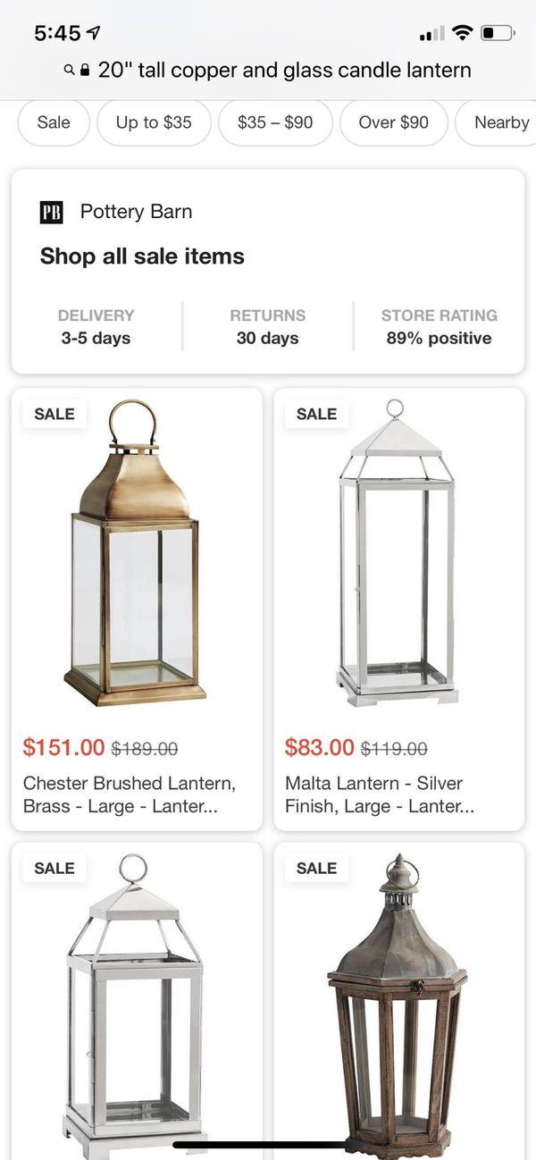 Copper and Glass large candle lantern or terrarium