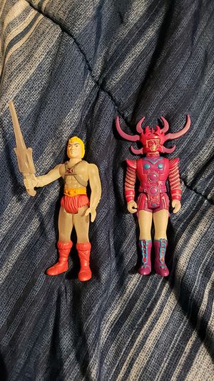He man and heavy metal glow in the dark re action figures for Sale in Des Moines, WA